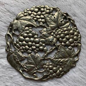 Vintage Arthur Court Silver Grape Trivet